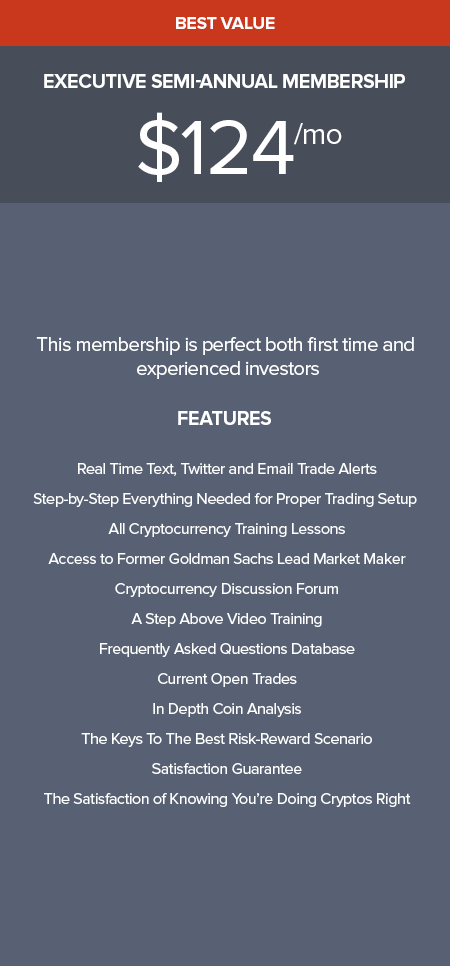 cryptocurrency trading strategy semi-annual membership